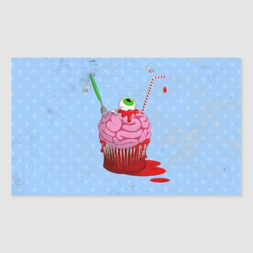 Cupcake Of The Dead Rectangle Sticker