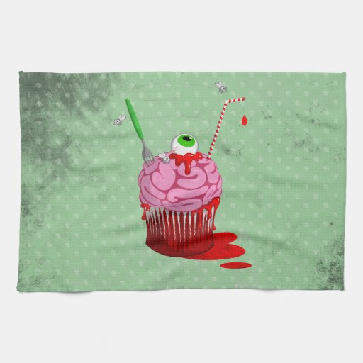 Cupcake Of The Dead Hand Towel