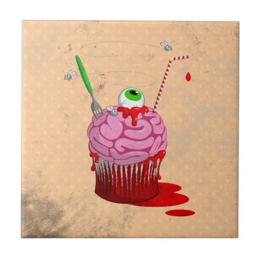 Cupcake Of The Dead Tile
