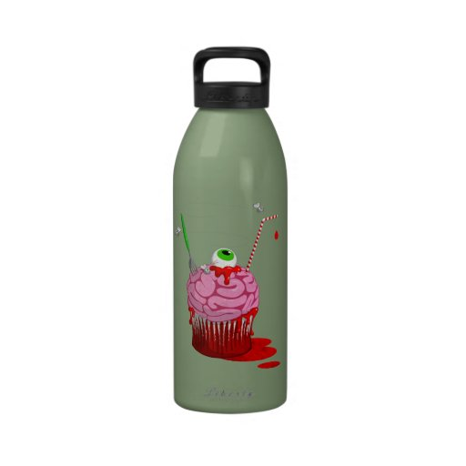 Cupcake Of The Dead Reusable Water Bottles