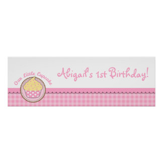 Cupcake Party Banner Poster