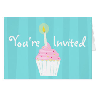 Cupcake Party Card