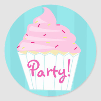 Cupcake Party Sticker