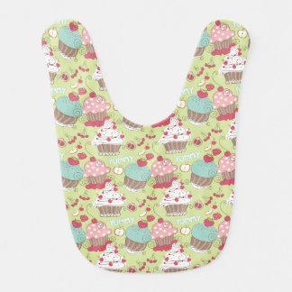 Cupcake pattern bibs
