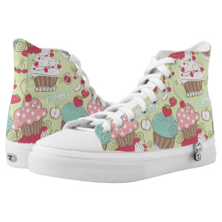 Cupcake pattern high tops