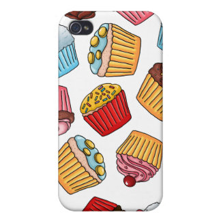Cupcake Pattern iPhone 4/4S Cover