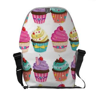 Cupcake Pattern Messenger Bag