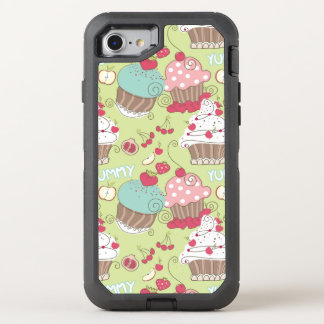 Cupcake pattern OtterBox defender iPhone 8/7 case