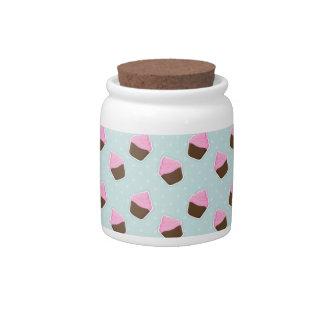 Cupcake Pattern Candy Dish