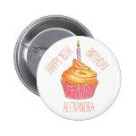 Cupcake Personalised Celebration Button