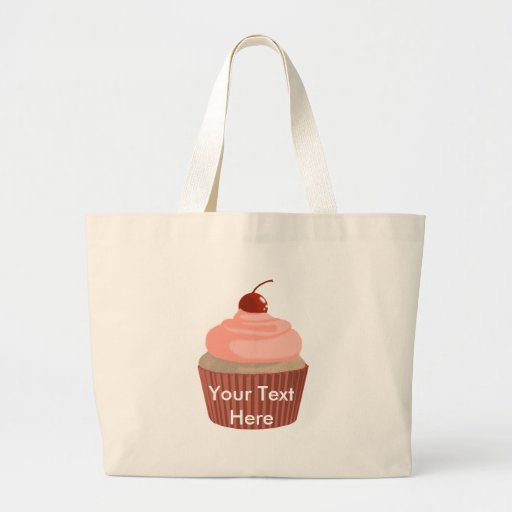 Cupcake-Pink and Red Canvas Bags