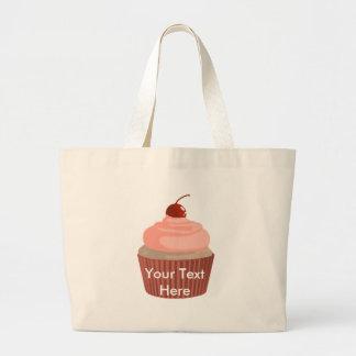 Cupcake-Pink and Red Jumbo Tote Bag