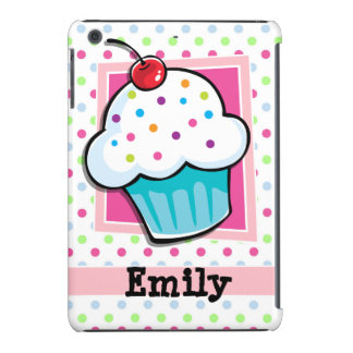 Cupcake, Pink, Blue, Green, Polka Dots iPad Mini Retina Covers
