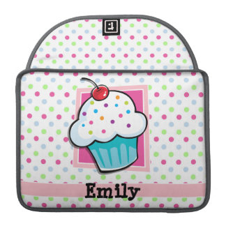 Cupcake, Pink, Blue, Green, Polka Dots MacBook Pro Sleeve