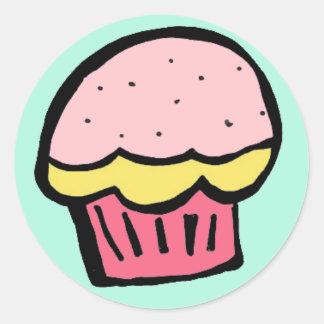 cupcake pink sticker