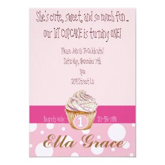 Cupcake & Polka Dots 13 Cm X 18 Cm Invitation Card