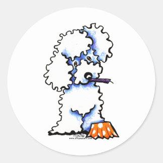 Cupcake Poodle Round Sticker