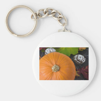 Cupcake & pumpkin basic round button key ring