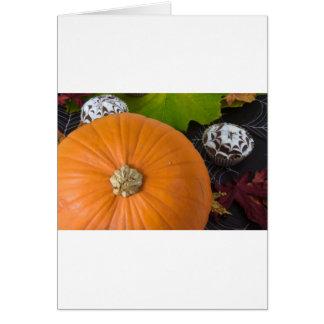 Cupcake & pumpkin greeting card