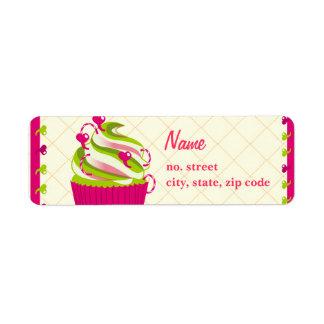 Cupcake Queen/Addict Customizable Return Address Label