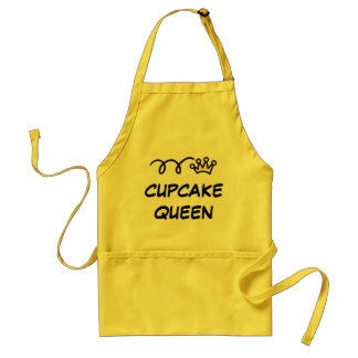 Cupcake Queen Aprons for women | yellow