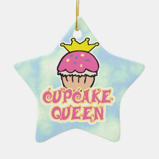Cupcake Queen Ceramic Star Decoration