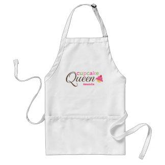 Cupcake queen fun cute personalised name standard apron