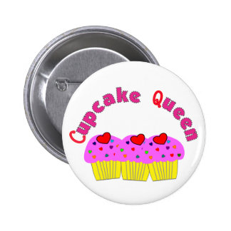 """Cupcake Queen""  T-Shirts and Gifts 6 Cm Round Badge"