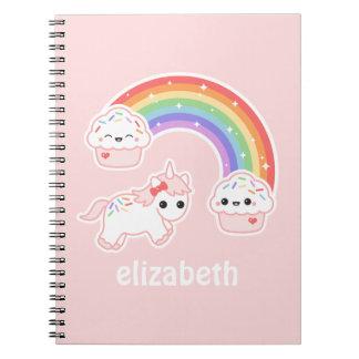 Cupcake Rainbow Unicorn Notebooks