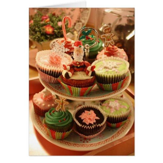 Cupcake recipe Christmas card