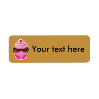 Cupcake Return Address Label