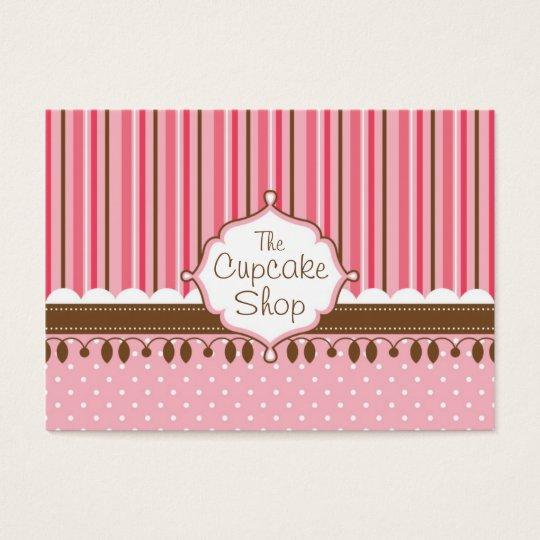 Cupcake Shop Chubby Business Card