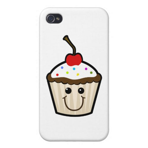Cupcake Smile Face iPhone 4 Cover
