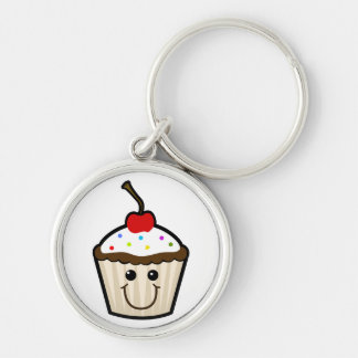 Cupcake Smile Face Key Chain