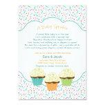 Cupcake Sprinkle Baby Shower Invite neutral