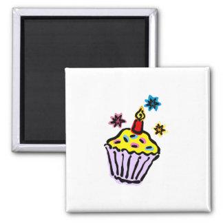 Cupcake Square Magnet