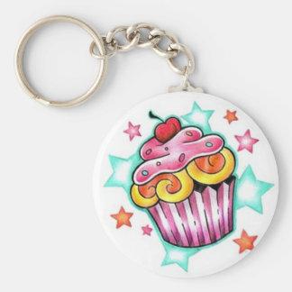 Cupcake STAR Key Ring