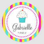 Cupcake Stickers, for DYI cupcake toppers Round Sticker