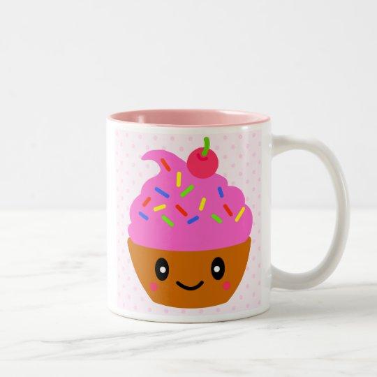 cupcake, sugar cakes cherry Two-Tone coffee mug