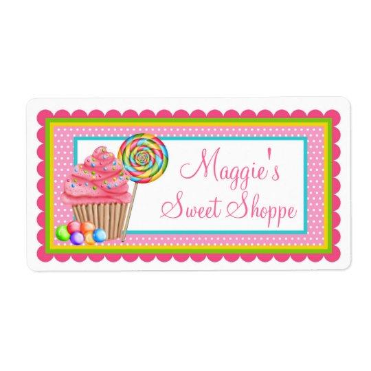 Cupcake Sweet Shoppe Labels
