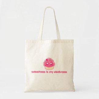 Cupcake-Sweetness is my Weakness Budget Tote Bag