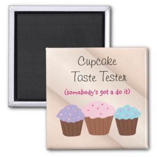 Cupcake Taste Tester Square Magnet