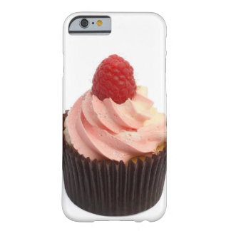 Cupcake topped with raspberry cream and a fresh barely there iPhone 6 case