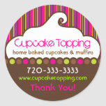 Cupcake Topping Retro Stickers