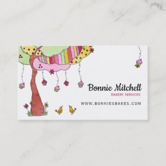 Cupcake Tree Bakery Services Business Card
