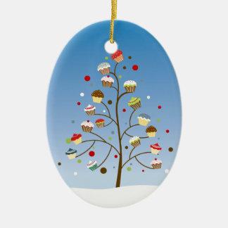 Cupcake Tree Holiday Christmas Ornament