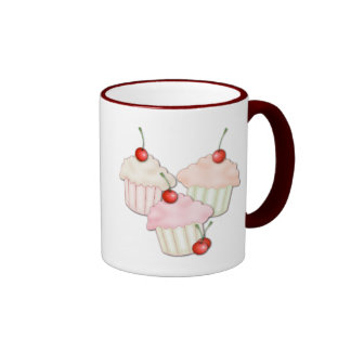 Cupcake Trio Ringer Mug