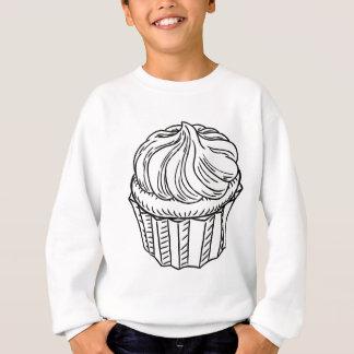 Cupcake Vintage Retro Woodcut Style Sweatshirt