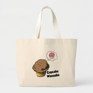 Cupcake Wannabe Muffin Large Tote Bag