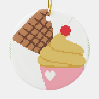cupcake with a cherry on top christmas ornament